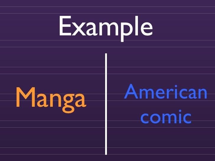 Manga American comic