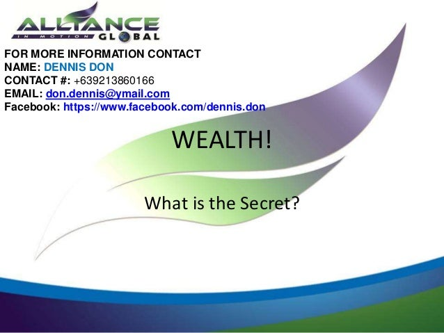 FOR MORE INFORMATION CONTACTNAME: DENNIS DONCONTACT #: +639213860166EMAIL: don.dennis@ymail.comFacebook: https://www.faceb...