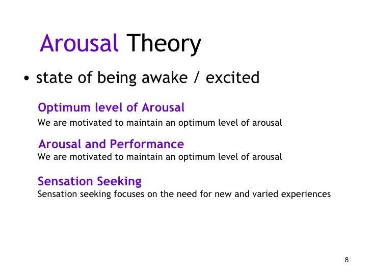 arousal theory of motivation pdf