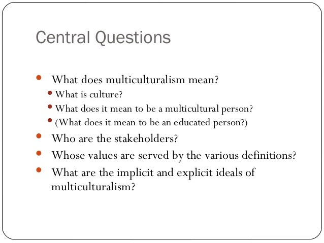 what is multiculturalism