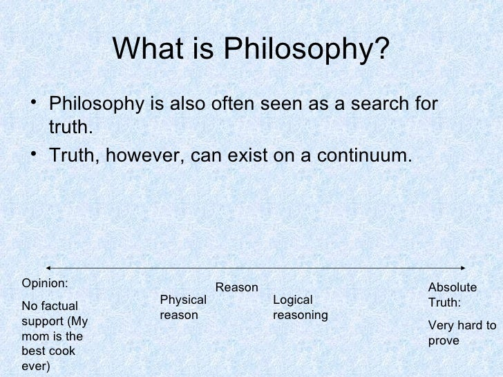 an analysis of the concept of absolute truth in philosophical thought Phil101: introduction to philosophy thought, from the famous against fixed absolute truth as presented by charles sanders pierce.