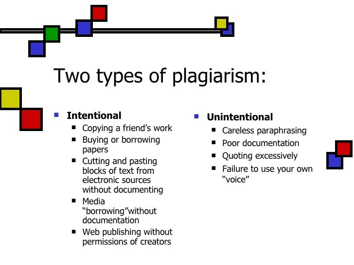 The Five Types of Plagiarism - PowerPoint PPT Presentation