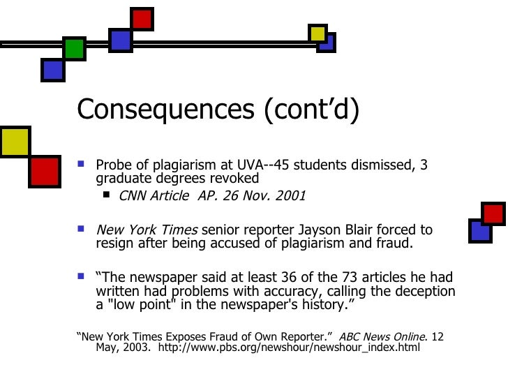 effects of plagiarism Plagiarism affects college students in a number of tangible and intangible ways lack of awareness without proper citation requirements and a simple desire to cut corners on school work are common motives of plagiarism if students considered the impact and consequences of this form of cheating.