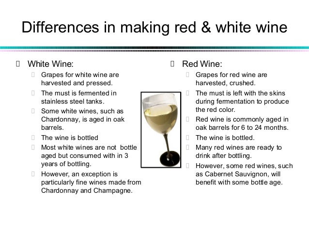 White wine making process