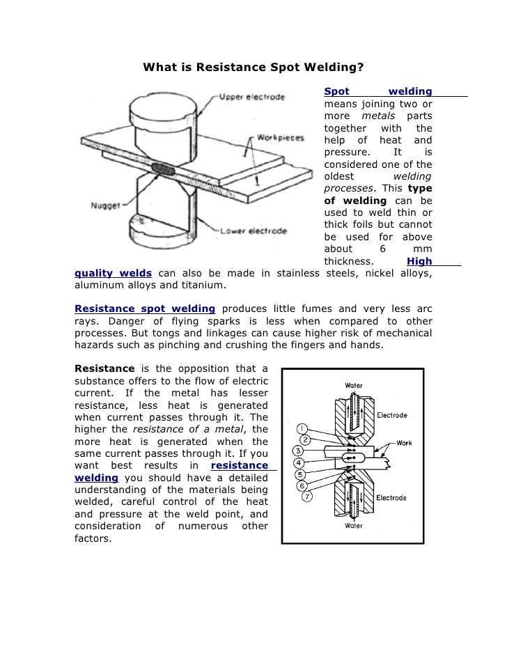 What is Resistance Spot Welding?                                              Spot          welding                       ...