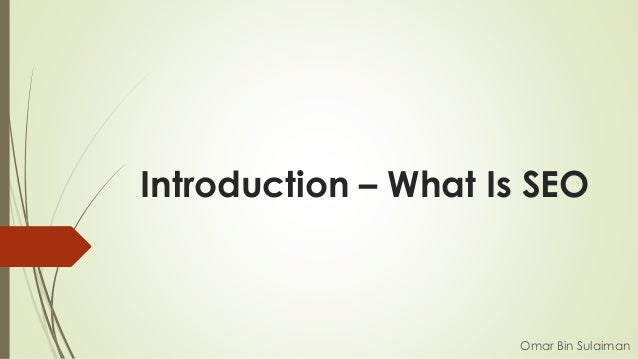Introduction – What Is SEO Omar Bin Sulaiman