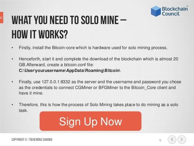 is mining bitcoins free money