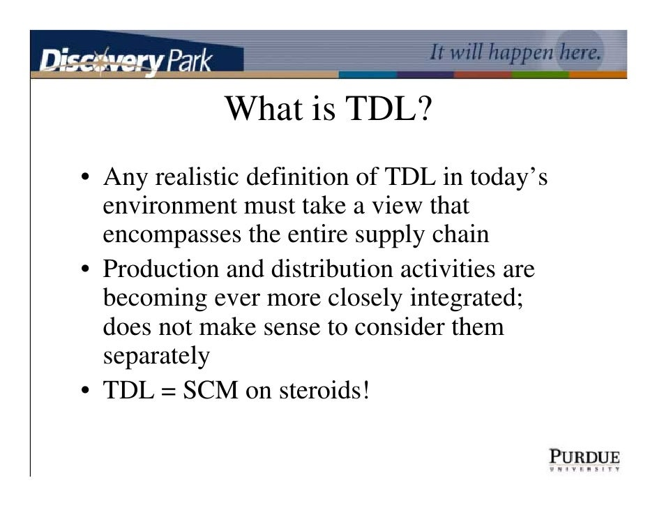 What Is TDL An Indiana Perspective