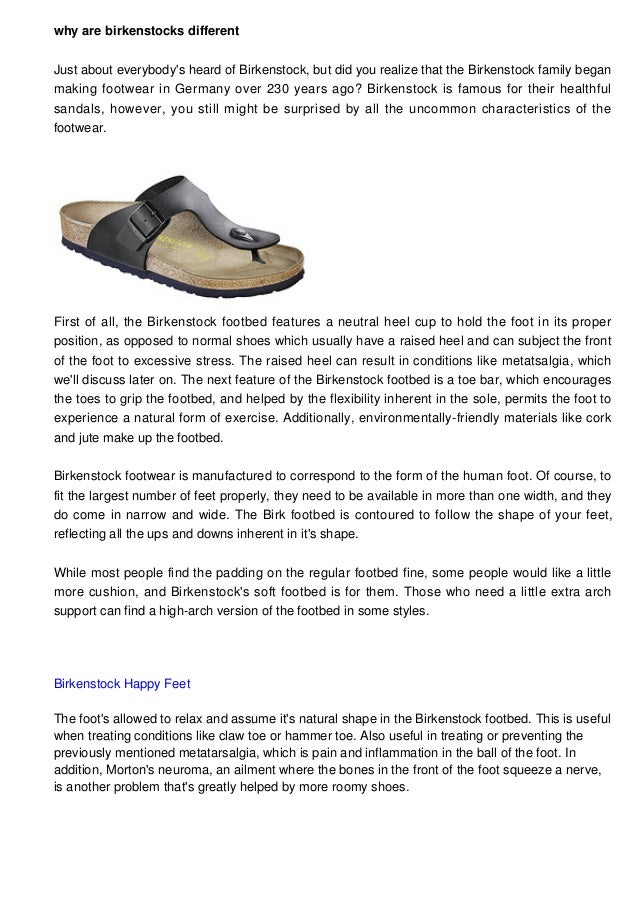 why are birkenstocks different Just about everybody s heard of Birkenstock da1cd3956