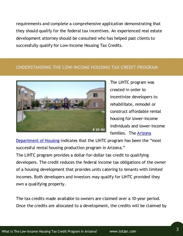 Wha is the Low-Income Housing Tax Credit Program in Arizona