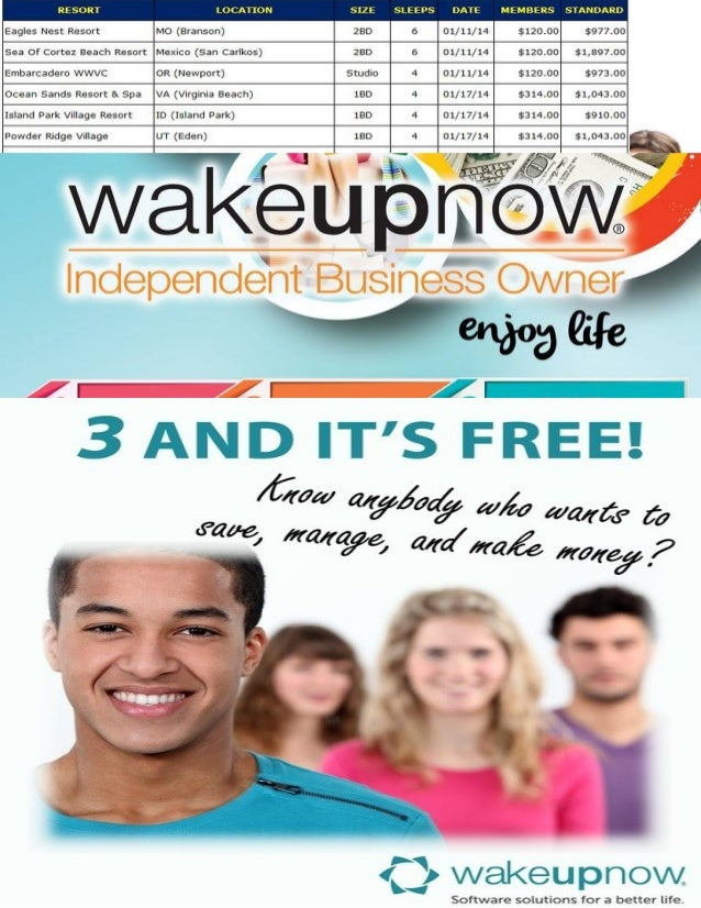 What is Wake Up Now?  Wake Up Now  is a multimillion  dollar financial solutions company, designed to help people save & m...