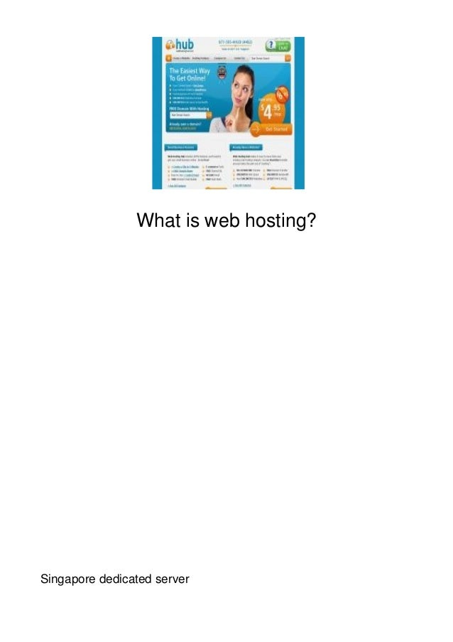 What is web hosting?Singapore dedicated server