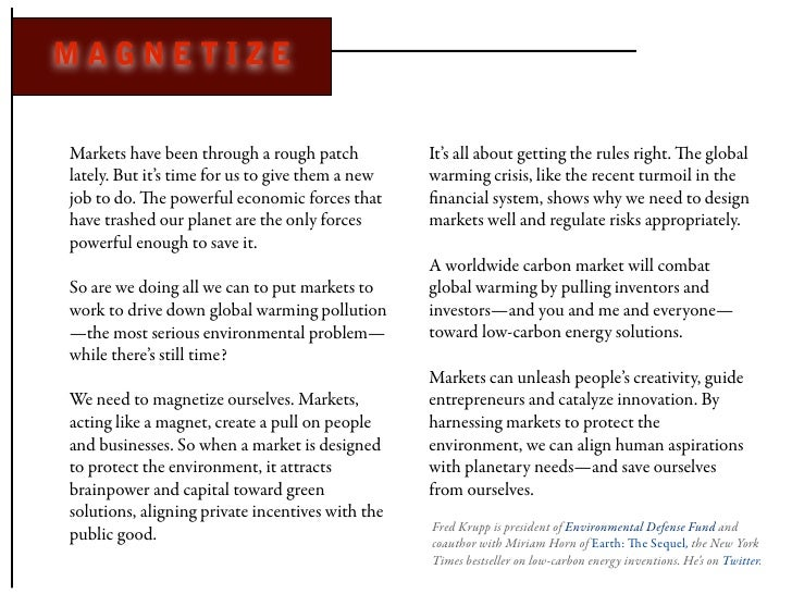 MAGNETIZE   Markets have been through a rough patch           It's all about getting the rules right. e global lately. Bu...