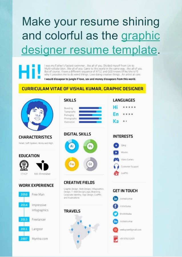 15. Make Your Resume Shining And Colorful ...  Colorful Resume Templates