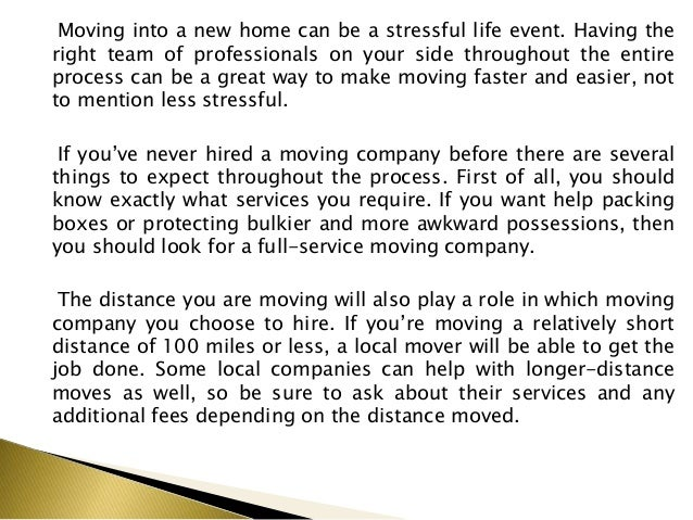 What to Expect When Hiring Movers Slide 2