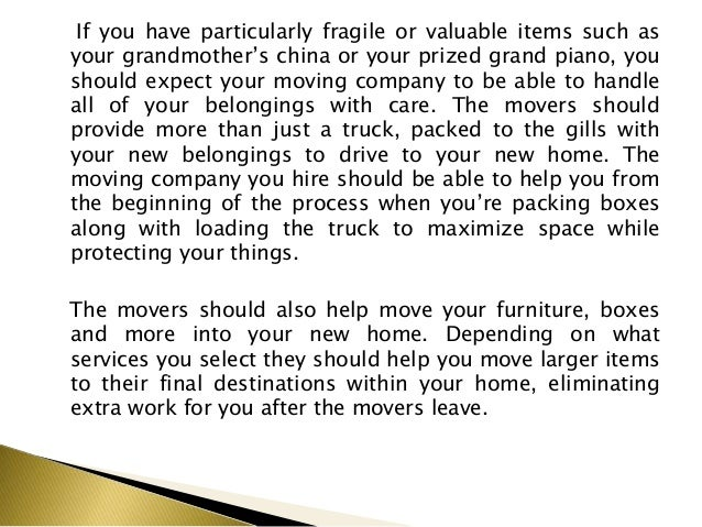 What to Expect When Hiring Movers Slide 3