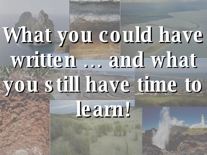 What you could have written … and what you still have time to learn!