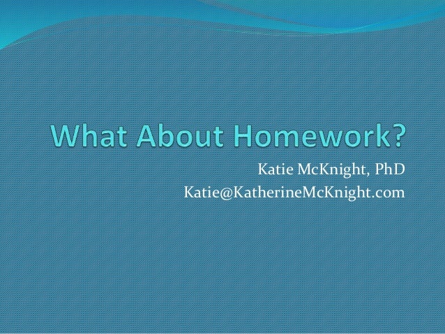 Katie McKnight, PhD Katie@KatherineMcKnight.com