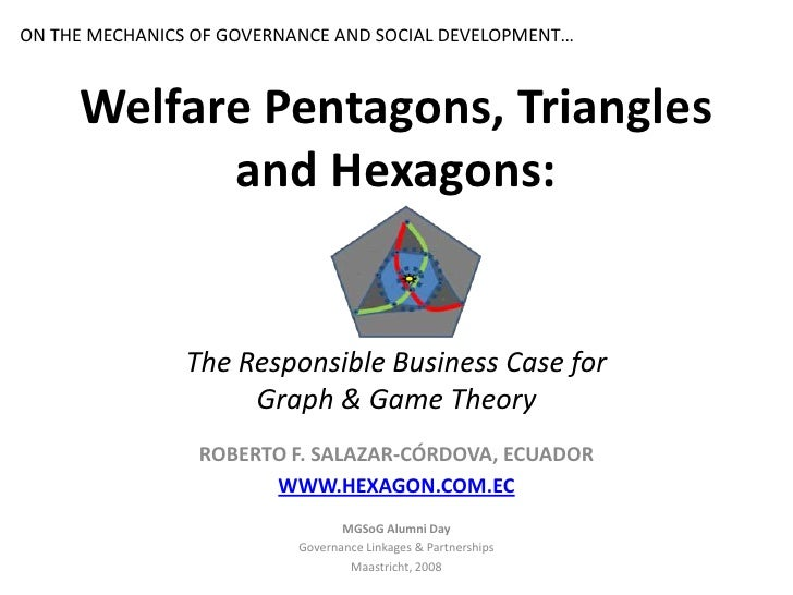 ON THE MECHANICS OF GOVERNANCE AND SOCIAL DEVELOPMENT…<br />Welfare Pentagons, Triangles and Hexagons:The Responsible Busi...