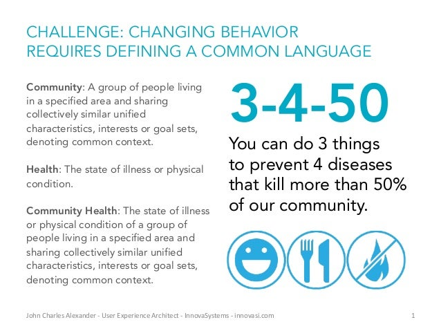CHALLENGE: CHANGING BEHAVIOR REQUIRES DEFINING A COMMON LANGUAGE Community: A group of people living in a specified area a...