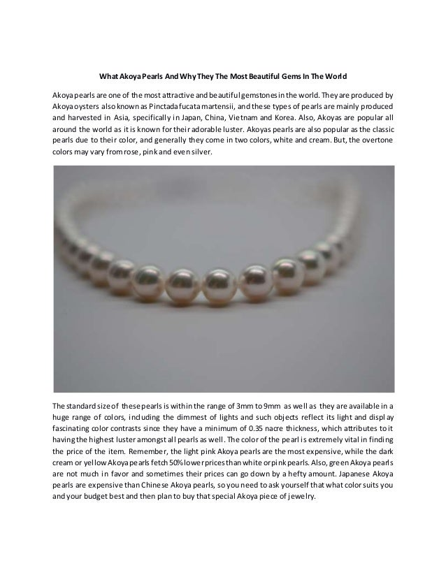 What akoya pearls and why they the most beautiful gems in the world