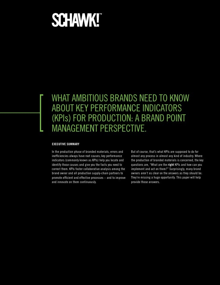What ambitious brands need to know about key performance indicators (kpis) for production