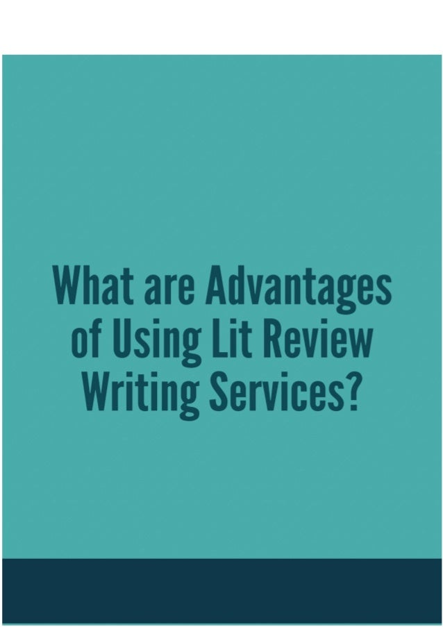 Lit review writing service