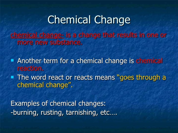 how to tell between a physical and chemical change