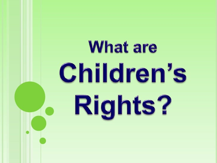 Should children have a right to