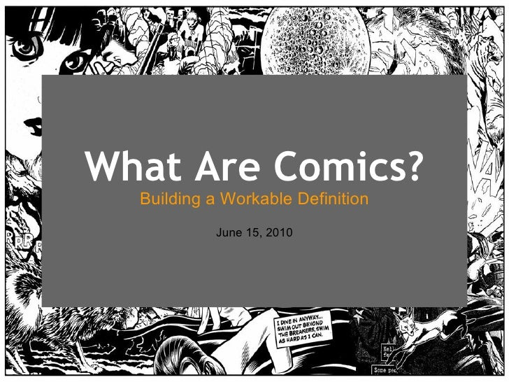 what are comics  building a workable definition