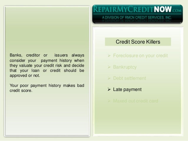  Foreclosure on your credit  Bankruptcy  Debt settlement  Late payment  Maxed out credit card Banks, creditor or issu...