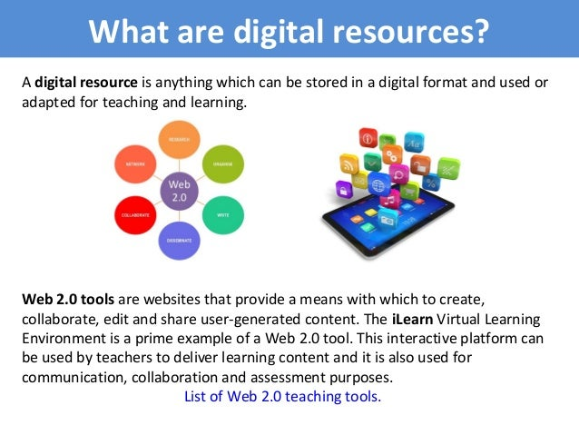 what are digital resources  slideshare