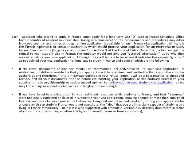 What are Grounds for Refusal of Student Visa in France Slide 2