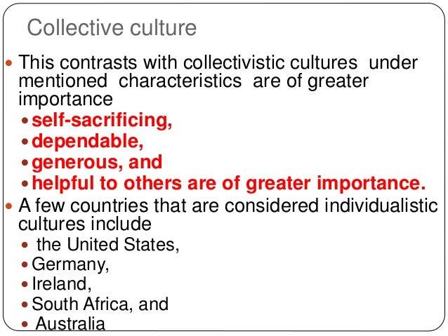 3 characteristics of culture