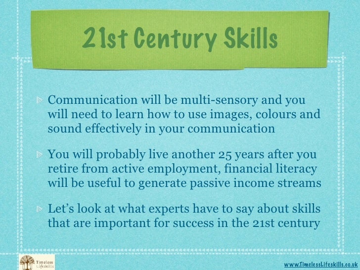 living in the 21 st century essay The partnership for 21st century skills  that measure 21st century skills what are 21st century  measure the health literacy of adults living.