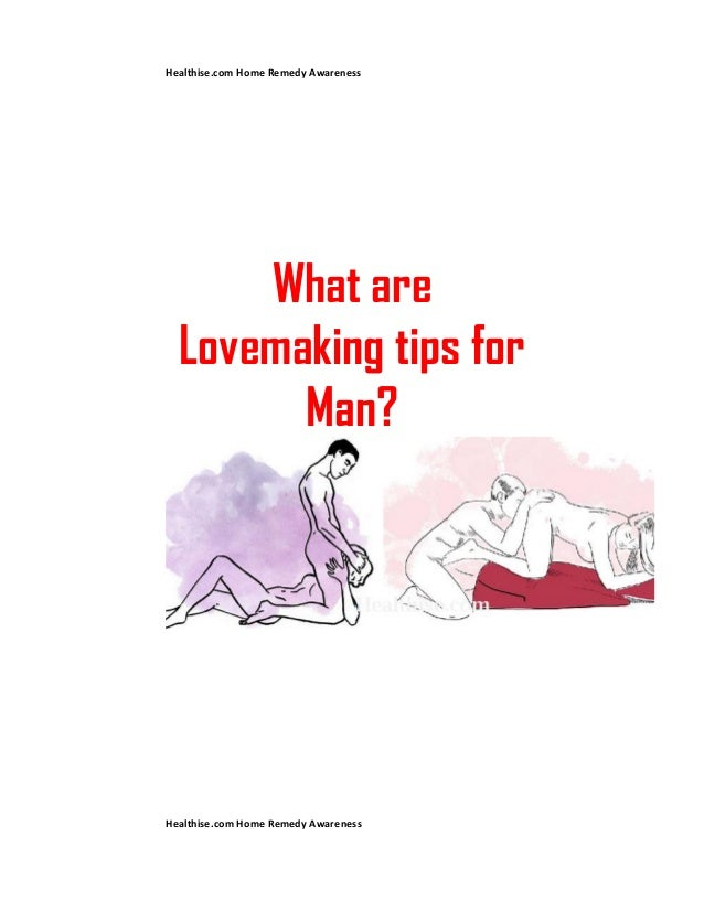 Sex tips for a man