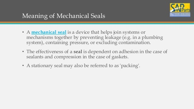 What are mechanical seals