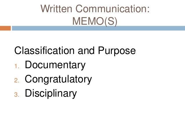 what are memos