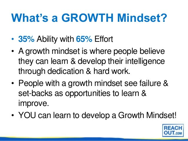 What are mindsets? Powerpoint