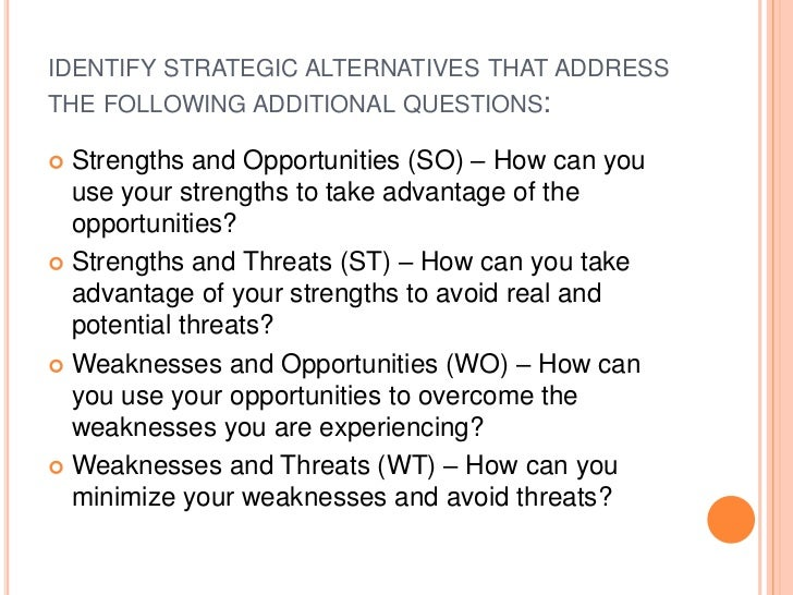 What Are My Company'S Strengths And Weaknesses