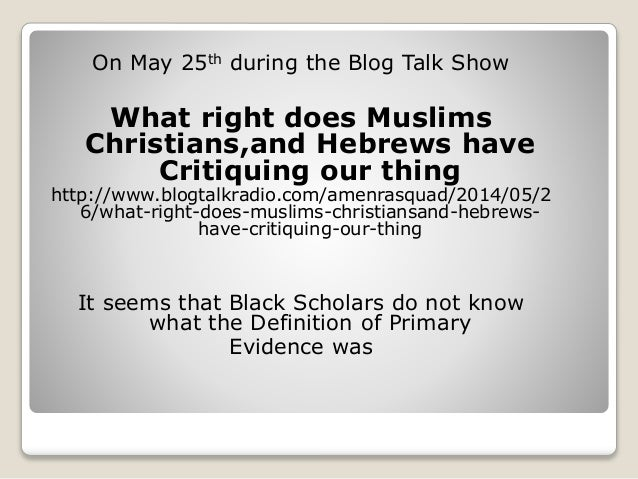 What Are Primary Sources? The Lie As Told By: The RealBlackAthiest Po…