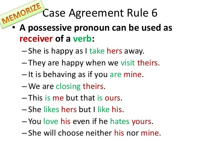 All about pronouns.