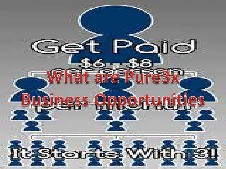 What are Pure3x Business Opportunities<br />