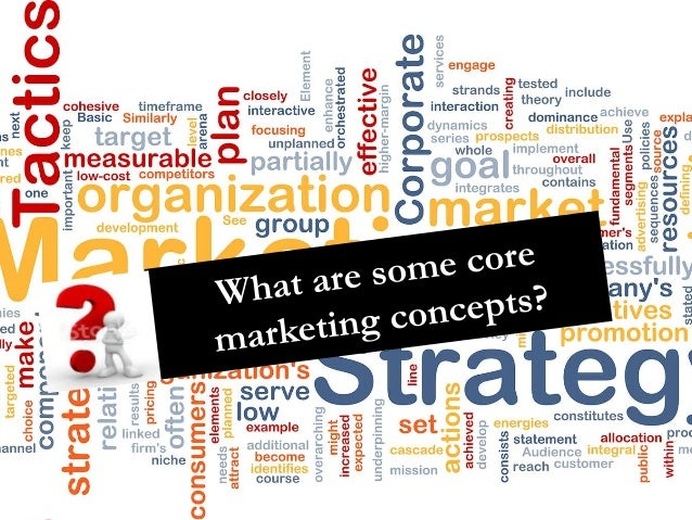13 core marketing concepts Welcome to principles of marketing,  concept testing is the way of testing new product concepts with a group of target consumers to find out if  core benefits.