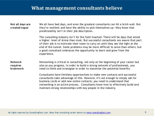 What Are Some Things That Management Consultants Know But Most People…