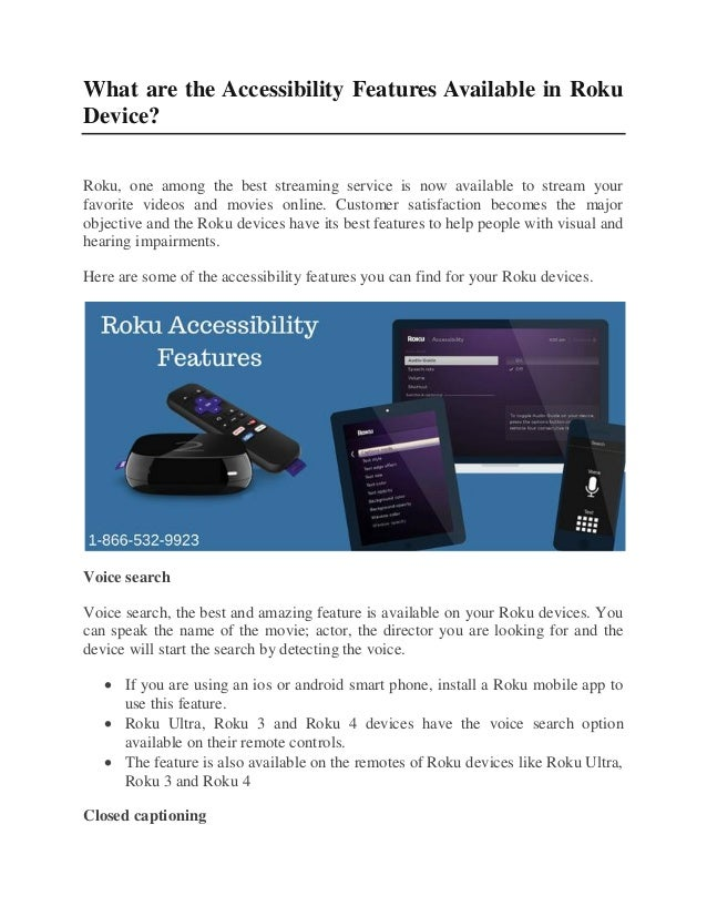 Get the Accessibility Features on Your Roku Device