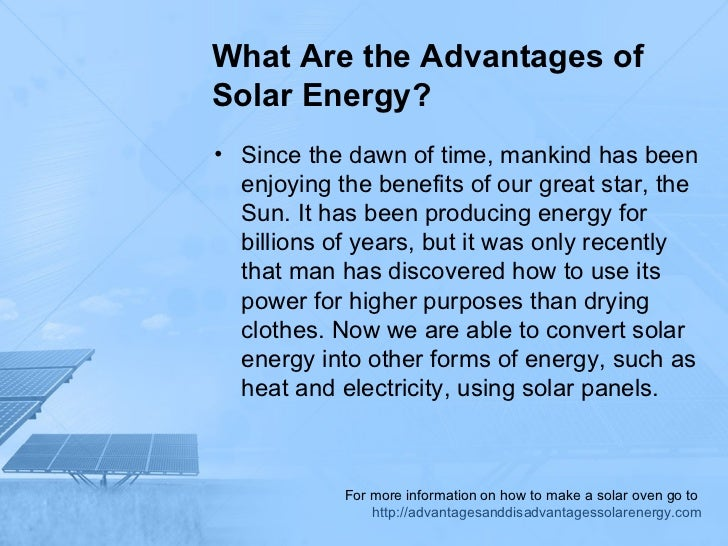 What Are The Advantages Of Solar Energy