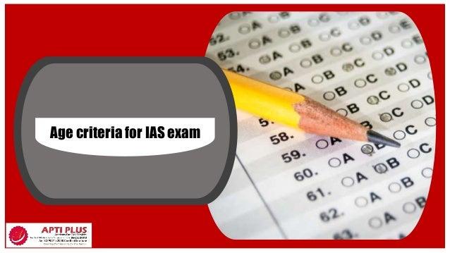 Age criteria for IAS exam