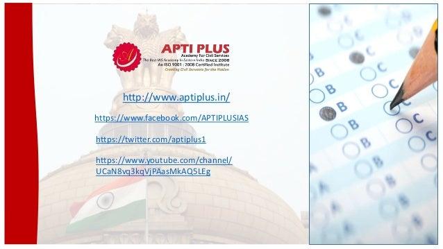 http://www.aptiplus.in/ https://www.facebook.com/APTIPLUSIAS https://twitter.com/aptiplus1 https://www.youtube.com/channel...