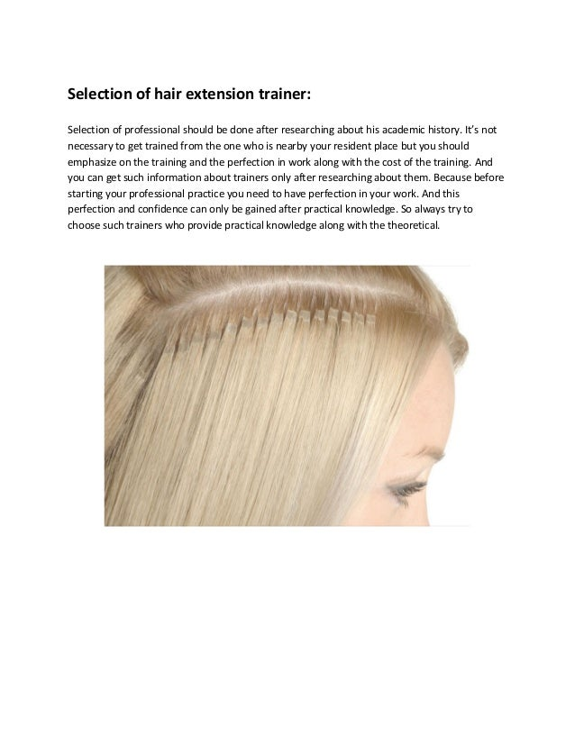 What Are The Applicable Facts About Hair Extension Training